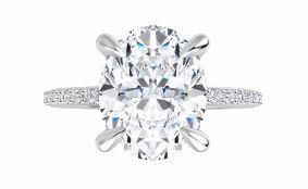 large oval diamond engagement ring