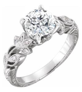 nature inspired diamond engagement ring