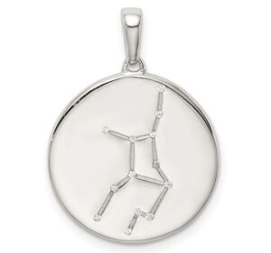 sterling silver constellation pendant