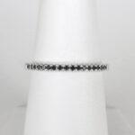 white gold black diamond band