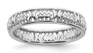 sterling silver stackable zodiac ring