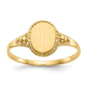 fancy yellow gold signet ring