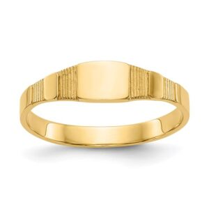 yellow gold square signet ring