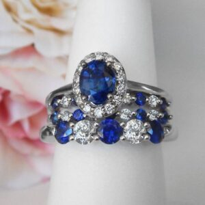 white gold sapphire and diamond rings