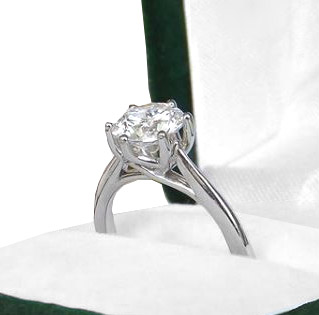 white gold diamond solitaire kloiber jewelers engagement ring