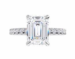 emerald cut moissanite engagement ring