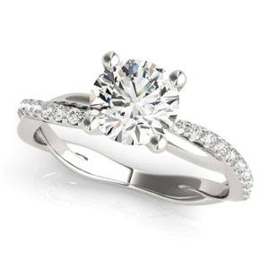 twisted shank moissanite engagement ring