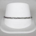 white gold spiga bracelet